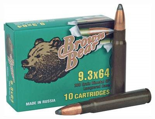Brown Bear 9 3x64mm Brenneke Ammunition 268 Grain Jacketed Soft Point 10  rounds