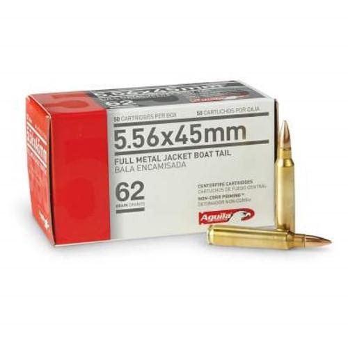 Aguila 5.56x45 NATO Ammunition 1E556110 62 Grain Full Metal Jacket Boat Tail 50 Rounds