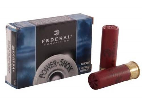 """Federal 12 Gauge Ammunition F13100 3"""" 15 Pellets 00 Buckshot 1210fps 5 rounds"""