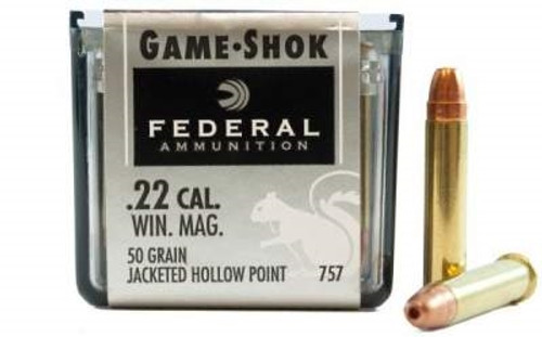 federal 22 mag game shok f757 50gr jhp 50 per box