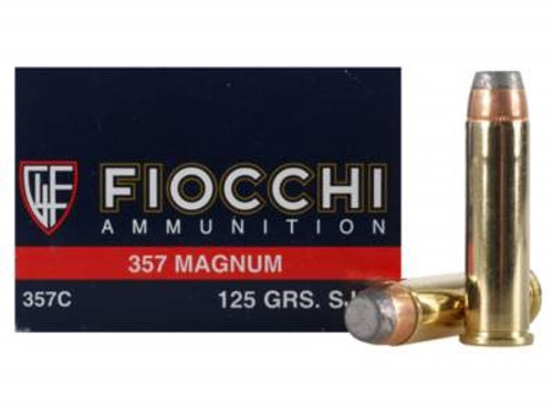 Fiocchi 357 Magnum Ammunition FI357C 125 Grain Semi-Jacketed Soft Point 50 rounds