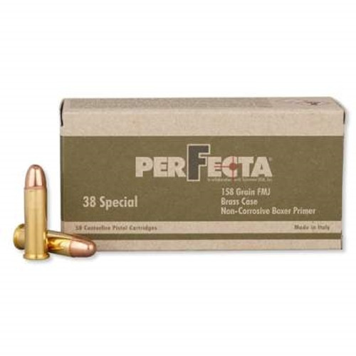 Perfecta 38 Special Ammunition PF381580 158 Grain Full Metal Jacket 50 Rounds