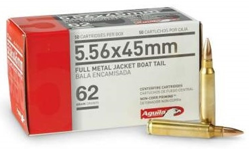 Aguila 5.56x45 NATO Ammunition 1E556110 62 Grain Full Metal Jacket Boat Tail Case of 1000 Rounds