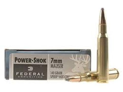 Federal 7mm Mauser Power-Shok 7B 140 Grain Speer Hot-Cor Soft Point 20 rounds
