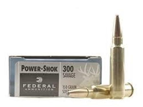 Federal 300 Savage Power-Shok 300B 180 Grain Soft Point 20 rounds