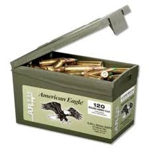 Federal 5.56 x 45mm NATO XM855 62 gr Steel Core FMJ Ammo Can CASE 600 rounds