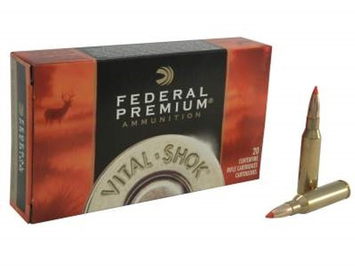 Federal 7mm-08 Ammunition Vital-Shok P708B 140 Grain Nosler Ballstic Tip 20 rounds