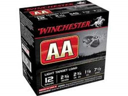 "Winchester 12 GA AA 2 3/4"" 1 1/8 oz 7 1/2 shot AA127 1145FPS CASE 250 rounds"