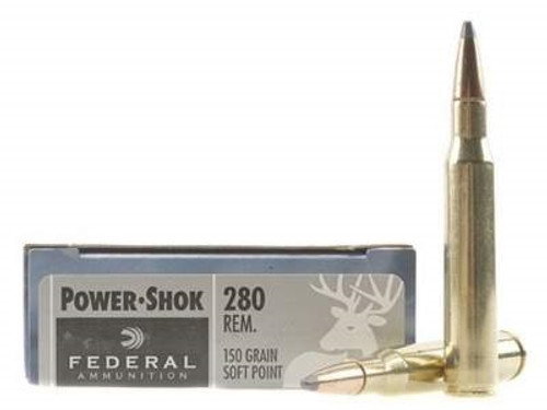 Federal 280 Rem Ammunition Power-Shok F280B 150 Grain Soft Point 20 rounds