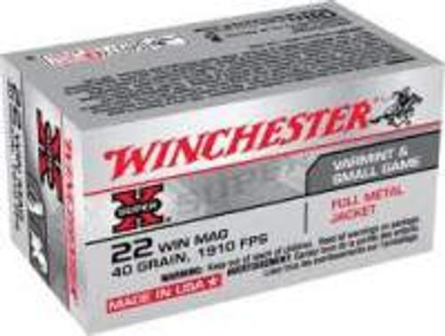 Winchester 22 WMR Ammunition Super-X X22M 40 Grain Full Metal Jacket 50 Rounds