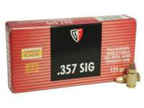 Fiocchi 357 Sig Ammunition FI357SIGAP 124 Grain Full Metal Jacket TC 50 Rounds