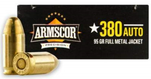 Armscor 380 AUTO Ammunition 95 Grain Full Metal Jacket 50 rounds