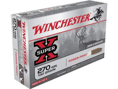 Winchester 270 Win Super-X X2705 130 gr Power-Point 20 rounds