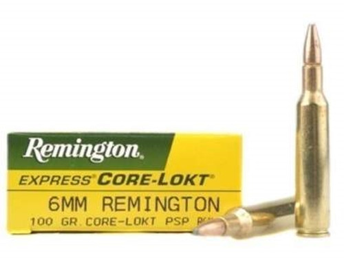Remington 6mm Rem Core-Lokt R6MM4 100 gr PSP 20 rounds