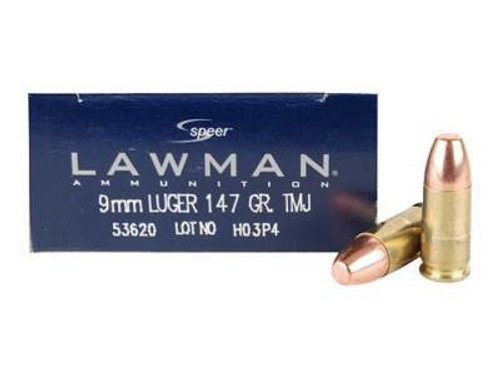 CCI 9mm Ammunition Speer Lawman CCI53620 147 Grain Total Metal Jacket Case of 1000 Rounds