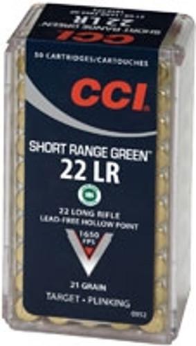 CCI Short Range Green 22LR Lead Free 0952 50 rounds