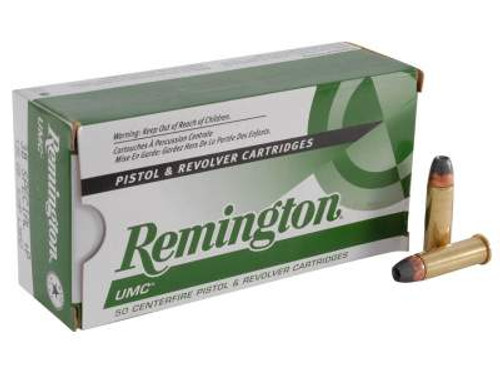 Remington 38 Special +P Ammunition UMC L38S2 125 Grain Jacketed Hollow Point 50 Rounds