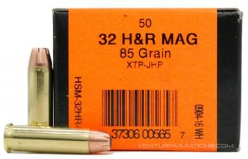 HSM 32 H&R Mag Ammunition 85 Grain XTP Hollow Point 50 rounds