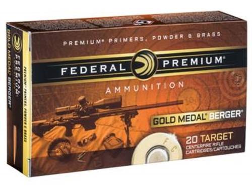 Federal 6.5 Grendel Ammunition Gold Metal GM65GDLBH130 130 Grain Berger Hybrid Open Tip Match 20 Rounds