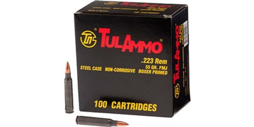 Tula 223 Remington Ammunition 55 Grain Hollow Point 100 rounds