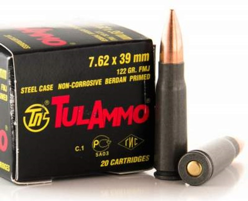 Tula 7.62x39 122 gr FMJ 40 rounds