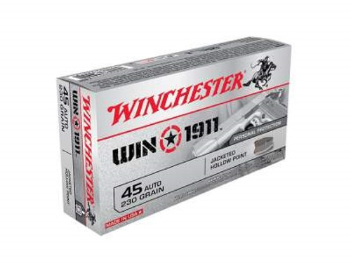 Winchester 45 Auto 1911 X45P 230 Grain Jacketed Hollow Point 50 rounds