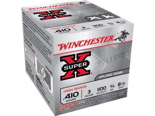"Winchester 410 Bore X413H85 Super-X High Brass 3"" 3/4 oz #8-1/2 Shot 1100FPS 25 rounds"
