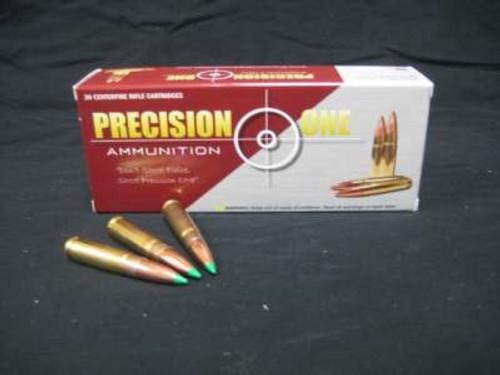 Precision One 300 AAC Blackout Ammunition 150 Grain Nosler Ballistic Tip 20  rounds