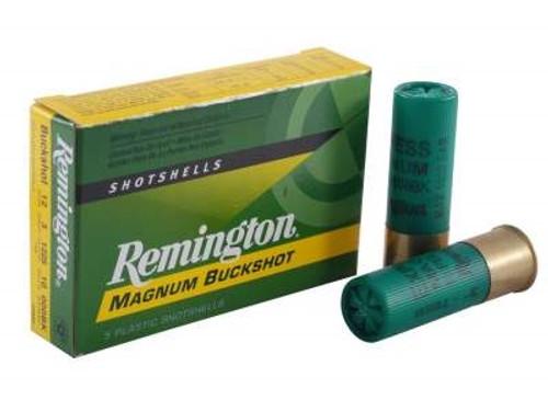 """Remington 12 Gauge Ammunition 12HB000 3"""" 000 Buck 10 Pellet 1225fps 5 rounds"""