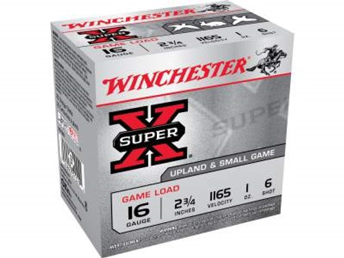 "Winchester 16 Gauge Ammunition Upland Game XU166 2-3/4"" 1oz #6 1165fps 25 rounds"