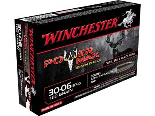 Winchester 30-06 Springfield Power Max X30064BP 180 Grain Protected Hollow Point 20 rounds