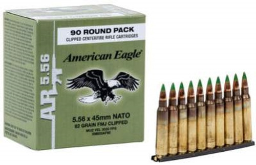 Federal 5.56 x 45mm NATO XM855 62gr Steel Core FMJ CASE on stripper clips 450 rounds