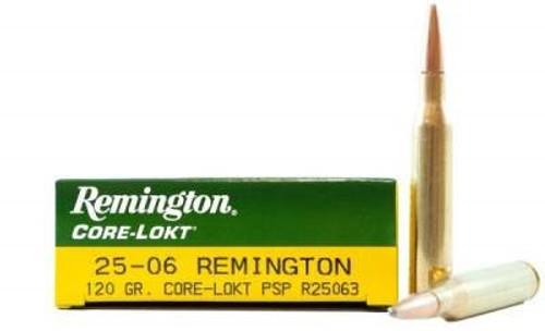 Remington 25-06 Ammunition Core-Lokt R25063 120 Grain Pointed Soft Point 20 rounds