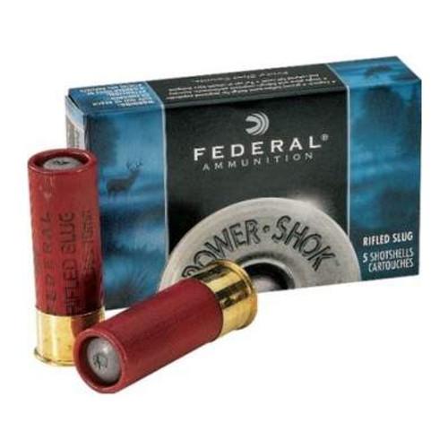 """Federal 12 Gauge Ammunition Power-Shok F127RS 2-3/4"""" 1oz Rifled Slug 1610fps 50 rounds"""
