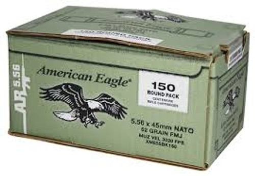 Federal 5.56 x 45mm NATO XM855 62gr Steel Core FMJ 150 rounds