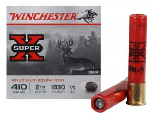"Winchester 410 Bore Super-X X41RS5VP 2-1/2"" 1/5 oz Rifled Slug Value Pack 1830fps 15 rounds"