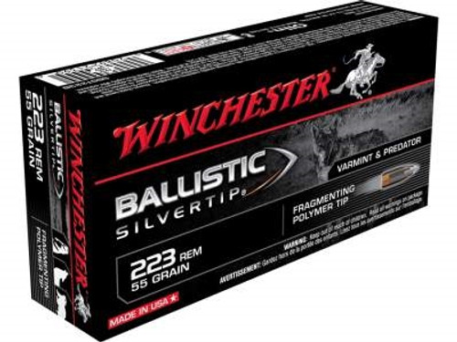 Winchester 223 Supreme SBST223B 55 gr Ballistic Silver-tip 20 rounds