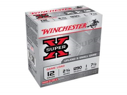 "Winchester 12 Gauge Ammunition Super-X Upland Game XU127 2-3/4"" 1oz 1290fps #7.5 250 rounds"