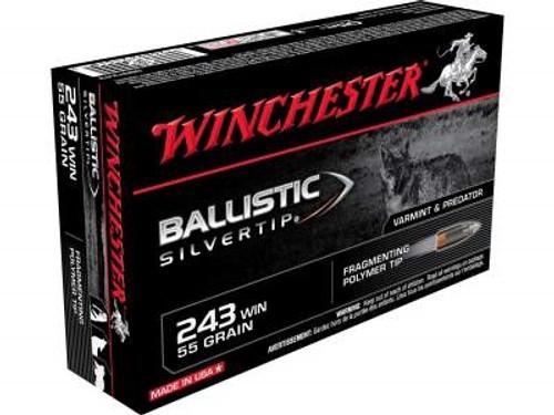 Winchester 243 Win Supreme SBST243 55 gr Ballistic Silvertip 20 rounds