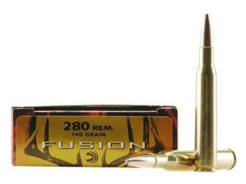 Federal 280 Rem Ammunition Fusion F280FS1 140 Grain Fusion Soft Point 20 Rounds