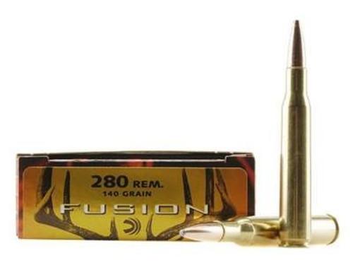 Federal 280 Rem Ammunition Fusion F280FS1 140 Grain Fusion Soft Point 20 Rounds