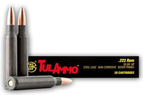 Tula 223 Remington Ammunition TA223552 55 Grain  Hollow Point CASE 1000 rounds