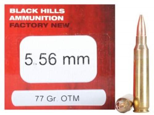 Black Hills 5.56x45mm NATO Ammunition D556N9 77 Grain Open Tip Match 50 rounds