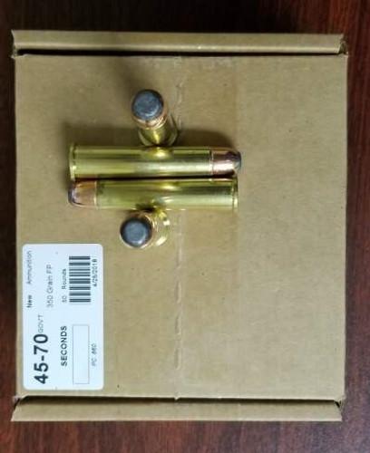 Precision One 45-70 Gov't Ammunition *Seconds* 350 Grain PONE860 Flat Point 50 Rounds