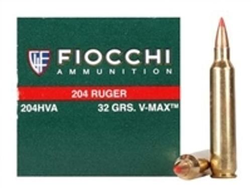 Fiocchi 204 Ruger Extrema Ammunition FI204HVA 32 Grain V-MAX CASE 1000 rounds