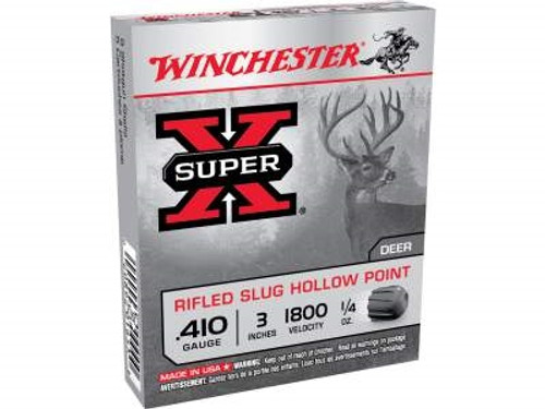 "Winchester Super-X X413RS5 410 Bore 3"" 1/4 oz Rifled Slug 1800fps 5 rounds"