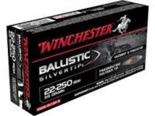 Winchester 22-250 Supreme Ammunition SBST22250 50 Grain Ballistic Silvertip 20 rounds
