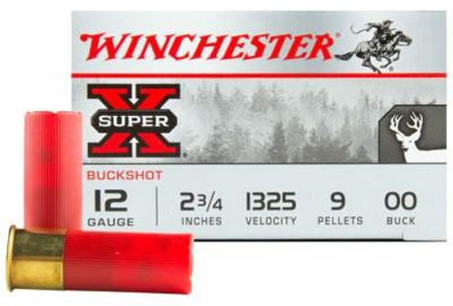 "Winchester 12 GA XB1200 00 Buck 2 3/4"" 9 Pellets Value Pack 1325fps 15 rounds"
