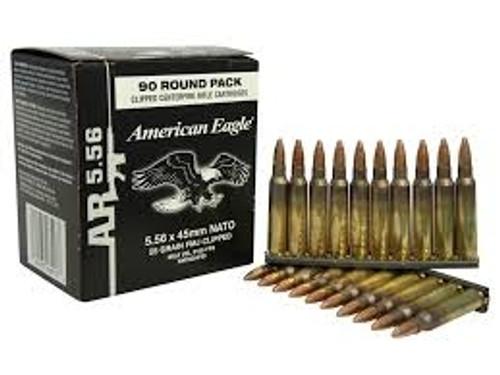 Federal 5.56x45mm NATO XM193AF90 55 gr FMJ on stripclips 450 rounds
