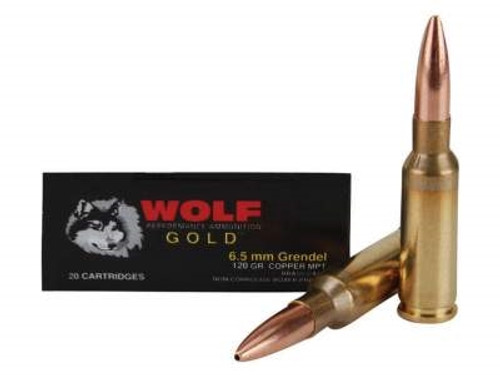Wolf 6.5 Grendel Gold 120 gr Multi-Purpose Tactical (MPT) BTHP 20 rounds